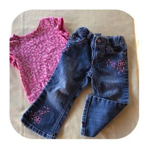 Jeans & T-shirt Outfit Girls 2T